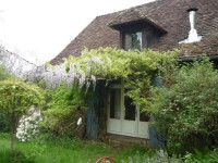 Exterior of house with Wysteria